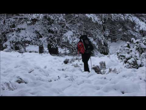 Winter wild camping on the Cairngorms January 2017. Winter w