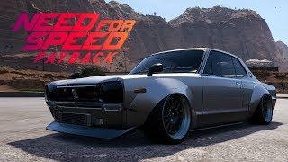 Need For Speed Payback - Nissan Skyline 2000 GT-R Customization + Air Suspension