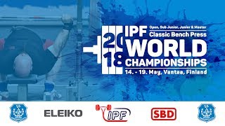 World Classic Bench Press Championships - Sub-Junior Men 83 - +120 kg
