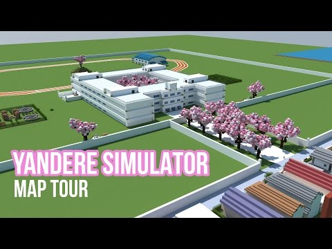Yandere Simulator Map [includes House + School] Minecraft Project