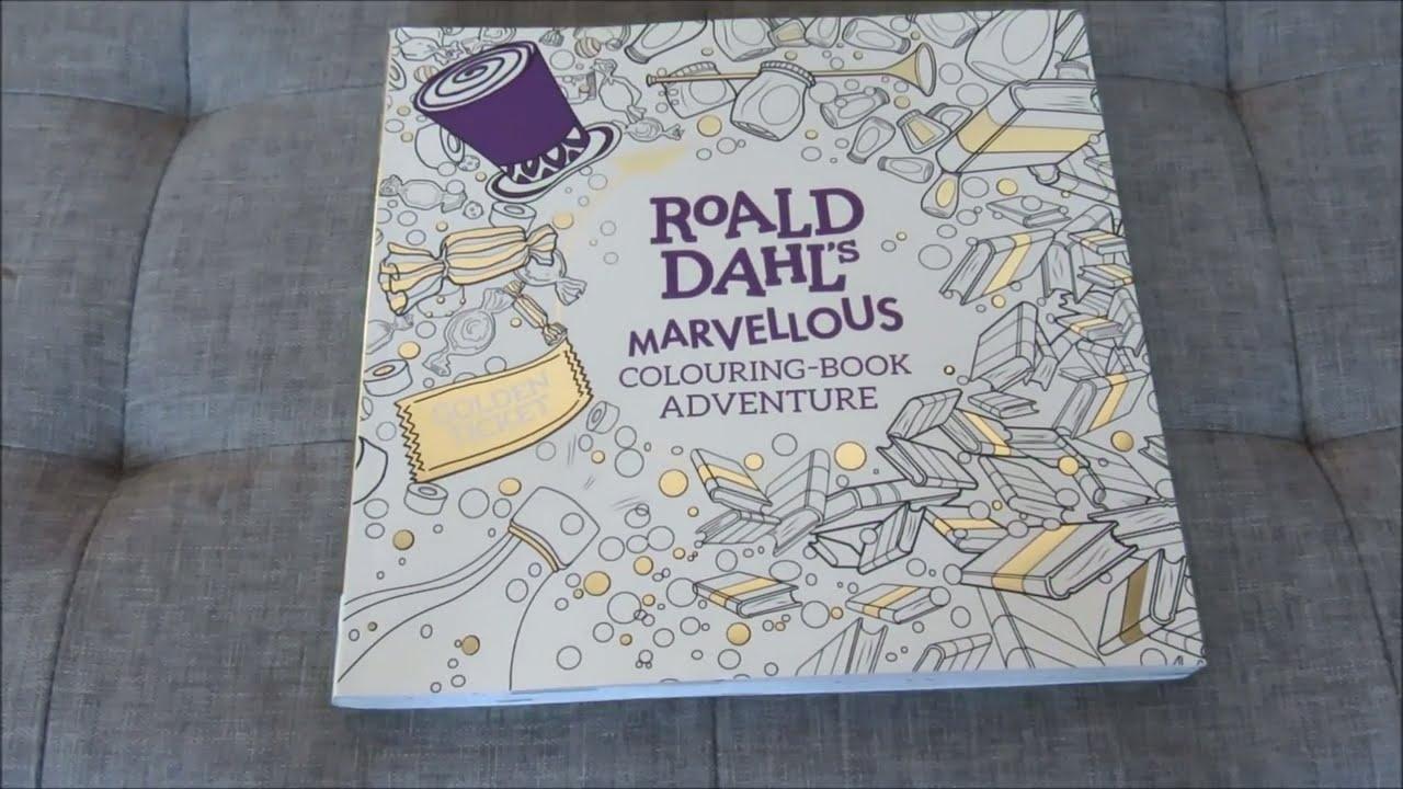 roald dahls marvellous colouring book adventure youtube