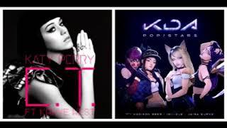 Katy Perry Ft K/DA, (G)I-DLE, Madison Beer, Jaira Burns - Terrestrial Star (Mashup)
