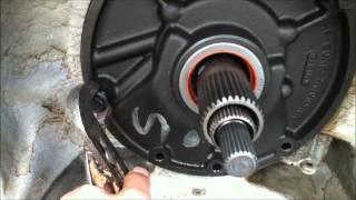 Transmission front pump removal e4od