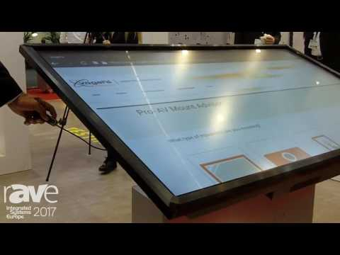 ISE 2017: Vogel's Products Presents Motorized Touch Table