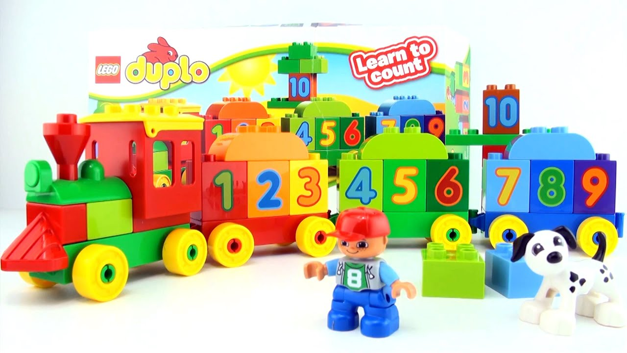learn to count to 10 with lego duplo train 123 10558. Black Bedroom Furniture Sets. Home Design Ideas
