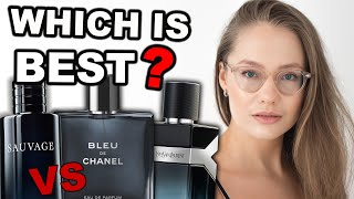 Dior Sauvage vs Bleu De Chanel vs Y YSL | buying guide to best popular mens colognes