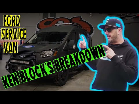 Ken Block Has Cool Ford Transit Support Vans For Cossie World Tour