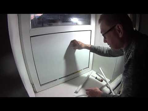 Замена стеклопакета на сэндвич панель! Replacement Of A Double-glazed Window On A Sandwich Panel!