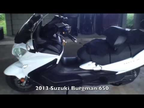 2013 Suzuki Burgman 650 Accessories Youtube