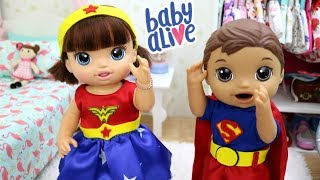 BABY ALIVE ALICE E FELIPINHO SE ARRUMANDO PARA A FESTA A FANTASIA DA ESCOLA