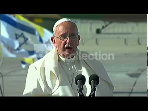 MIDEAST:POPE-MUST HAVE A TWO-STATE SOLUTION