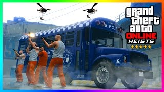THE IMPOSSIBLE PRISON BREAK ESCAPE & RARE ARMORED VEHICLE GETAWAY - GTA ONLINE HEISTS! (GTA 5)