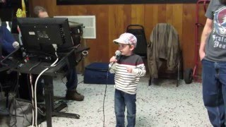 4 yr old sings Karaoke Elton John Tiny Dancer