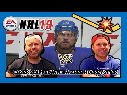 BEST OF THREE - NHL 19 GAMEPLAY WITH UNCLE JOHN - LOSER GETS SLAPPED WITH A KNEE HOCKEY STICK