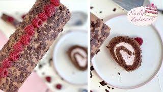 Himbeer-Schoko-Biskuitrolle I lecker & einfach zuzubereiten I Rezept von Nicoles Zuckerwerk