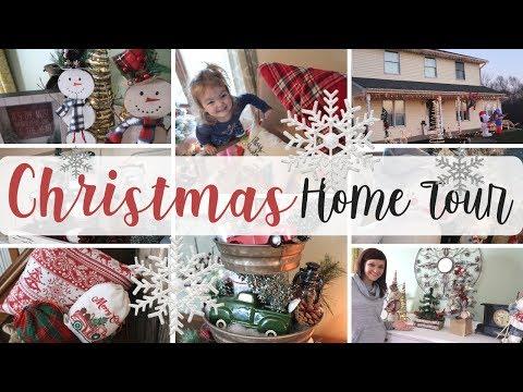 Christmas Home Tour 2018 | Rustic Christmas Decor | Collab w/ Glue Guns and Roses