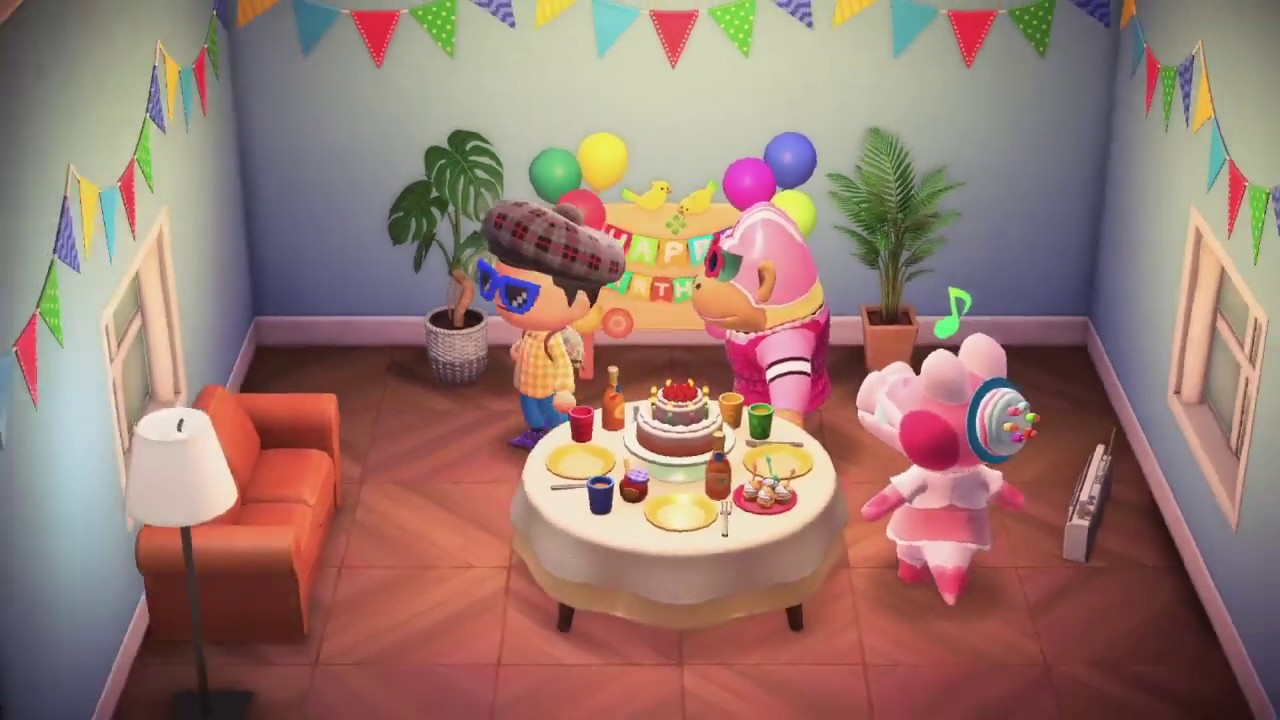 Animal Crossing New Horizons: Gayle's Birthday! - YouTube