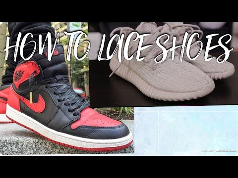 How to lace your shoes!!! (Never tie shoes again)