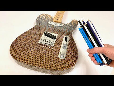 I Built Another Guitar Out of 1200 Colored Pencils