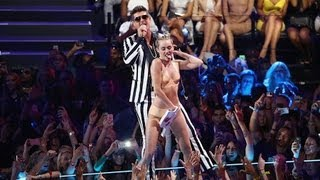 Miley Cyrus Twerks With Robin Thicke at MTV VMas - Celebrities React! | POPSUGAR News