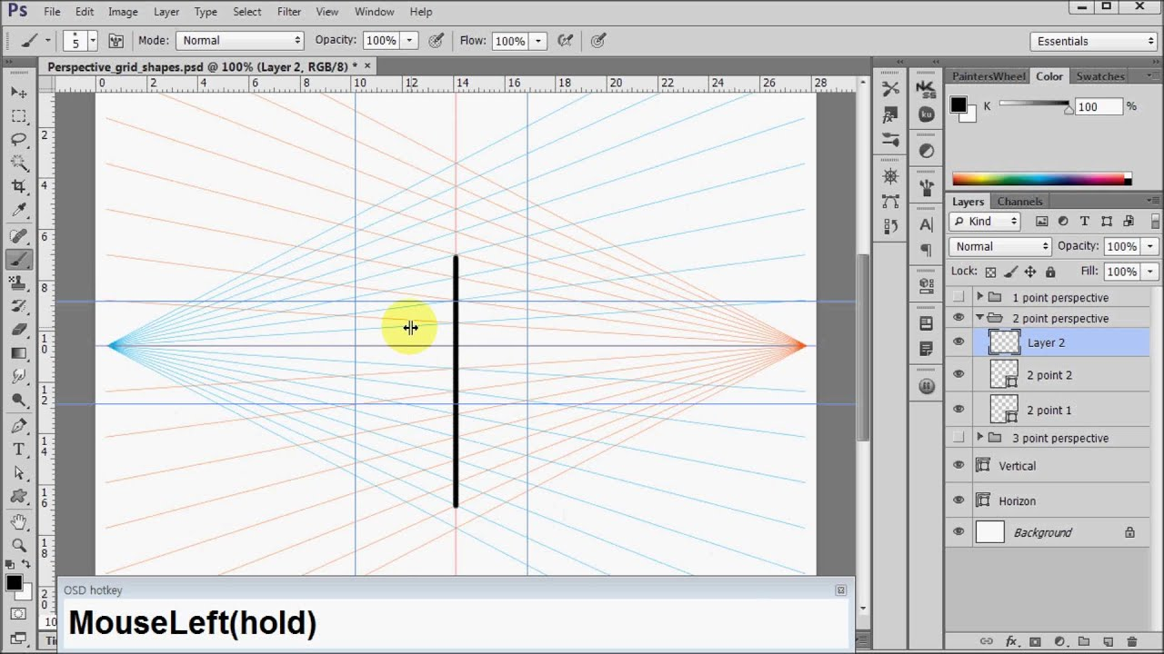 Photoshop Perspective Grid Shapes Download Youtube
