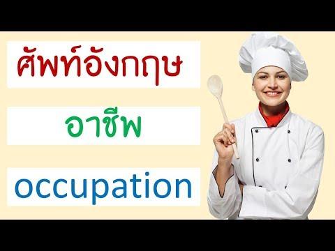 คำศัพท์ อาชีพ ภาษาอังกฤษ Job and Occupation