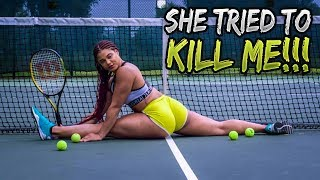 ORGANIK FITNESS :MEET MY THICK SEXY TRAINER!! (ABS AND SHOULDER WORKOUT)
