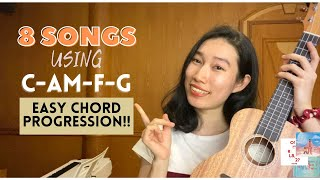 8 SONGS WITH 4 EASY CHORDS (Ukulele Tutorial) by Chairia Tandias