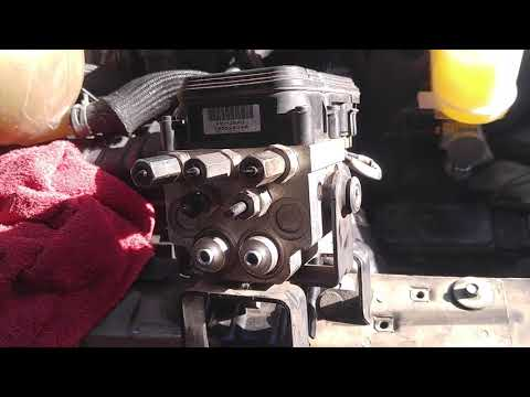 Ford sinking fading brake pedal HCU