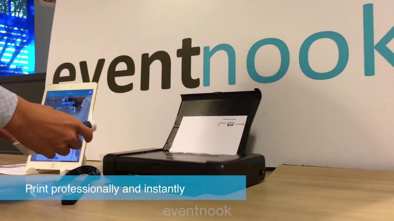 EventNook Checkin Manager Instant Onsite Badge Printing With - Name badge printer