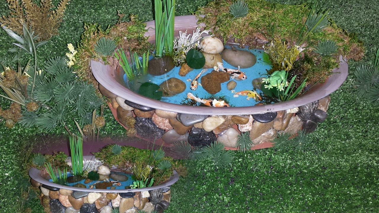 how to make a little fish pond