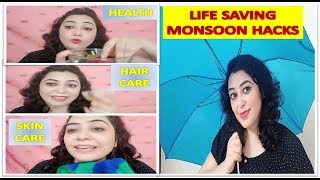 11 LIFE Saving Monsoon Hacks You MUST Know | Skincare, Hair care,  Body Care, Health | Pooja Luthra