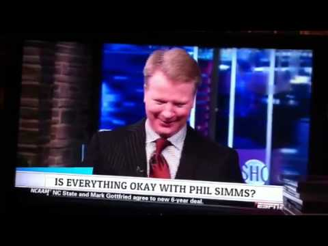 Phil Simms has a drinking problem??