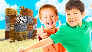 2 NOOBS vs  WORLDS WORST MINECRAFT MAP!