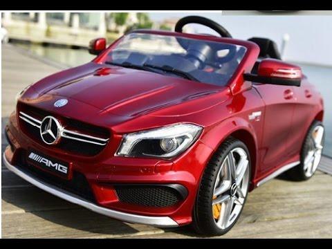 mercedes cla45 amg kinderauto rood metallic youtube