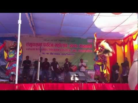 lakhe dance of khandbari by niranjan on shankhuwasabha festival..