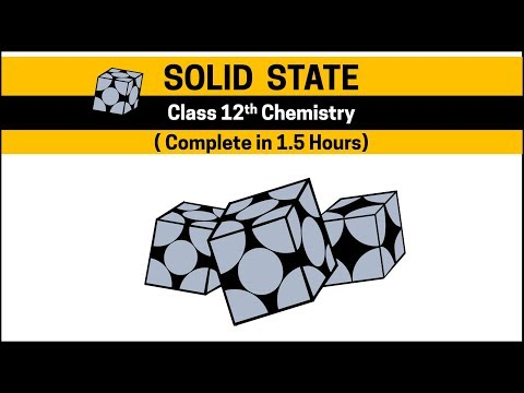 Solid State in 1.5 Hours [Complete] Class  11th and 12th Chemistry