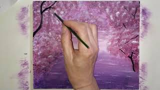 """Draw the picture itself, painting """"By the Lake"""". Zeichne das Bild selbst und male """"By the Lake"""""""