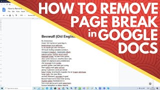 How To Remove Or Delete A Page Break In Google Docs Youtube How to make a table of contents in google docs. how to remove or delete a page break in google docs