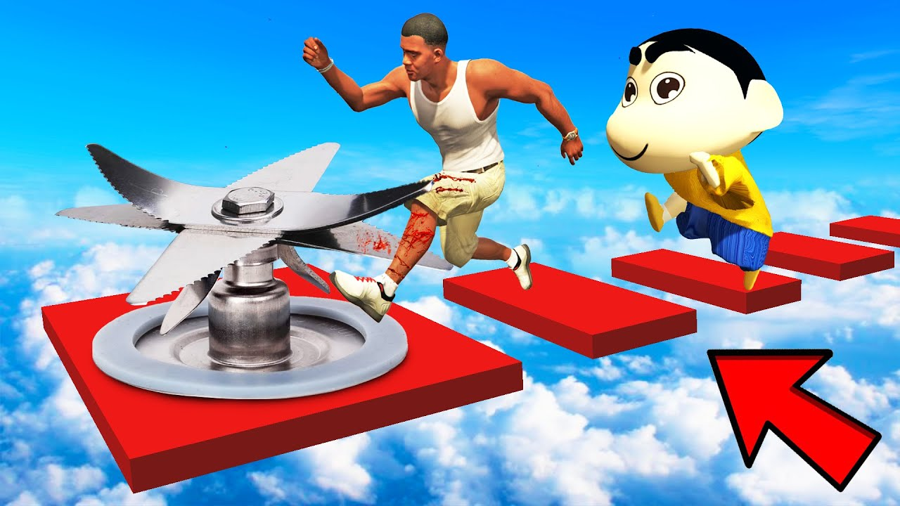 SHINCHAN AND FRANKLIN TRIED IMPOSSIBLE BLADE BLENDER CHALLENGE GTA 5