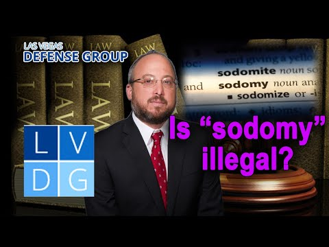 """Is the act of """"sodomy"""" legal here in the state of Nevada?"""