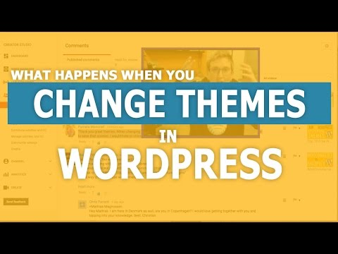 Will I Lose Content Changing my WordPress Theme?