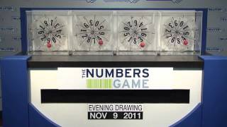 Evening Numbers Game Drawing: Wednesday, November 9, 2011