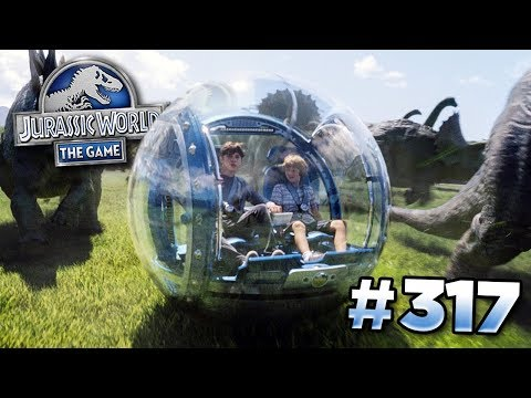 Download Youtube: The Gyrosphere Draft Battle! || Jurassic World - The Game - Ep317 HD