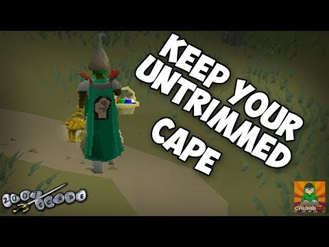 OSRS How to Keep Untrimmed Skillcapes 2017