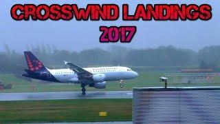 Top 10 Airlines - Crosswind Landings Storm Compilation 2017