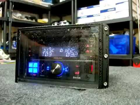 marine radio cover double din for motorcycles cars boats and