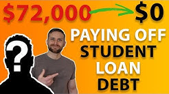 Paying Off $72,000 In Student Loan Debt - Debt Free Journey