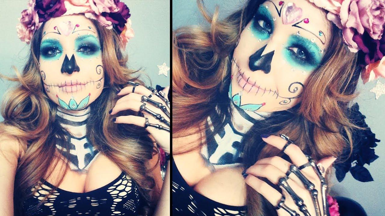 Sugar Skull Makeup Tutorial for Halloween   MissJessicaHarlow ...