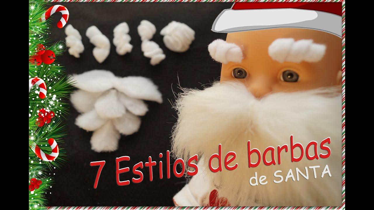 Diy 7 tipos de barbas de pap noel santa claus viejo - Un santa claus especial ...